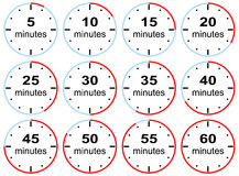 Simple Clocks With Presets Time Limits Stock Photo