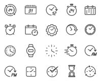 Free Time Line Icon Set, Schedule And Data Symbol Stock Photos - 145949973