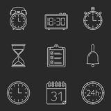 Time Line Icons Royalty Free Stock Photography