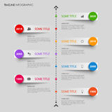 Time line info graphic with bent design stripes template Royalty Free Stock Images