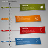 Time line info graphic colored striped paper templ. Ate vector eps 10 Stock Photos