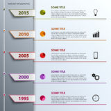 Time line info graphic with colored tabs design template Royalty Free Stock Photography
