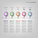 Time line info graphic with design pointers template Stock Images