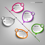 Time line info graphic with design stickers template Royalty Free Stock Photo