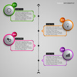 Time line info graphic gray round element template Royalty Free Stock Photo
