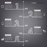 Time line info graphic number design template. Vector eps 10 Royalty Free Stock Photography