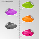 Time line info graphic stickers template. Vector eps 10 Stock Images