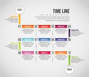 Time Line Infographic Stock Image