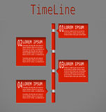 Time line red diagram Royalty Free Stock Photography