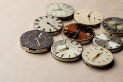 Time and сlock mechanisms Royalty Free Stock Photos