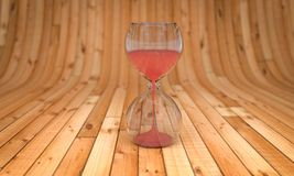 Time and Love ,hourglass and heart 3D rendering Stock Images