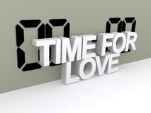 Time for love sign Royalty Free Stock Photography