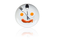 Time for lunch ,Fried egg heart Stock Image