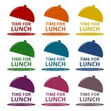 Time For Lunch icons set Royalty Free Stock Image