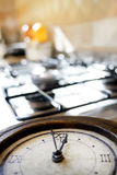 Time for lunch with an old clock on a hub Stock Image