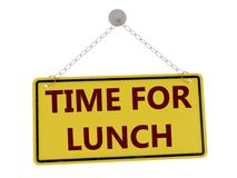 Time for lunch sign royalty free illustration