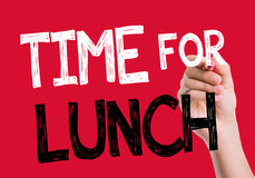 Time For Lunch written on the wipe board Royalty Free Stock Photos