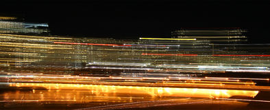 Time machine. A blurred city night scape image Royalty Free Stock Photo