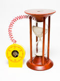 Time machine. Two devices in time synchronization Royalty Free Stock Photos