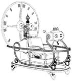 Time Machine Isolated On White Background Vector Royalty Free Stock Photography