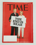 Time magazine issued before 2016 Presidential election on display Stock Image