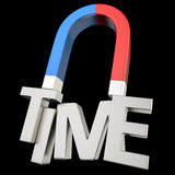 Time magnet Stock Image