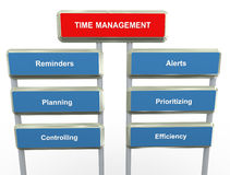 Time management. 3d render of words related to 'time management Royalty Free Stock Photography