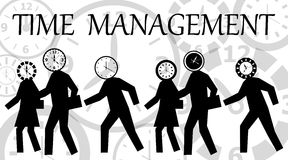 Time management. Reducing stress by planning and organizing better (time management Stock Image