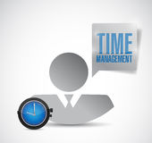 Time management avatar employee. illustration Royalty Free Stock Photo