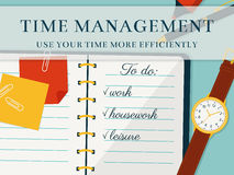 Time management banner. Vector concept background. Stock Photos
