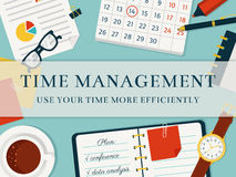 Time management banner. Vector concept background. Stock Photography