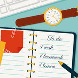 Time management banner. Vector concept background. Royalty Free Stock Images