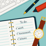 Time management banner. Vector concept background. Royalty Free Stock Photography