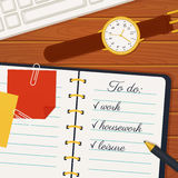 Time management banner. Vector concept background. Stock Photo