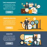 Time Management Banners Stock Photography