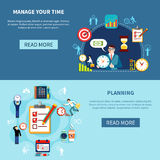 Time Management Banners Set Royalty Free Stock Image