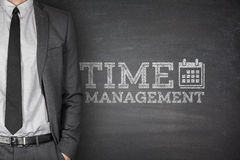 Time management on blackboard Stock Images