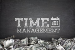 Time management on blackboard Stock Photography