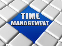 Time management in boxes Royalty Free Stock Images