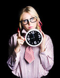 Time management business person signalling time up Royalty Free Stock Photos
