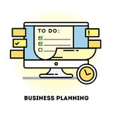 Time management and business planning graphic Stock Image