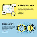 Time management and business planning graphic Stock Photos