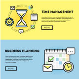 Time management and business planning graphic Royalty Free Stock Image