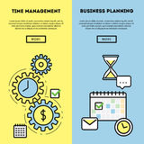 Time management and business planning graphic Stock Photo