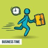 Time management business sketch Royalty Free Stock Images