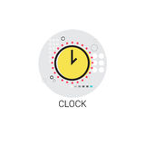 Time Management Business Timing Clock Icon. Vector Illustration Royalty Free Stock Photos
