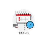 Time Management Business Timing Icon. Vector Illustration Stock Images