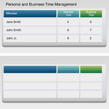 Time Management Chart Royalty Free Stock Images
