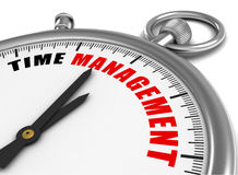 Time management clock concept 3d illustration Royalty Free Stock Photos