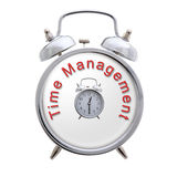 Time Management Clock. Time Management Concept Clock on a white background Royalty Free Stock Image